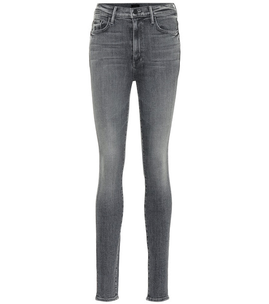 Mother The Super Swooner skinny jeans in grey