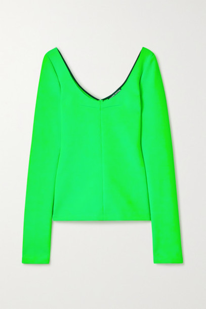 Kwaidan Editions - Neon Stretch-knit Top - Green