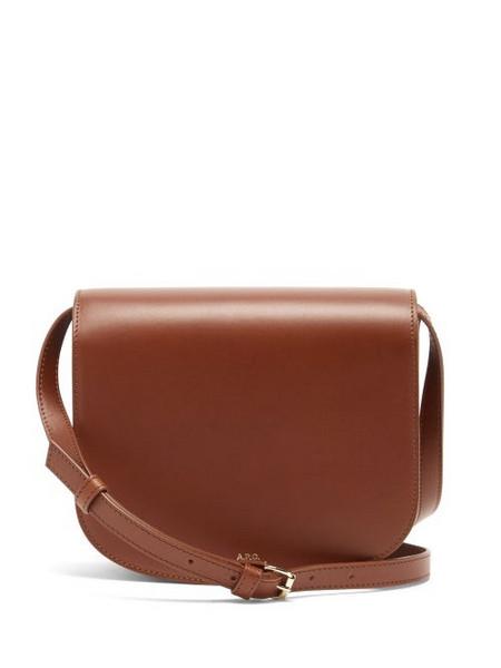 A.P.C. A.P.C. - Dina Leather Cross-body Bag - Womens - Tan