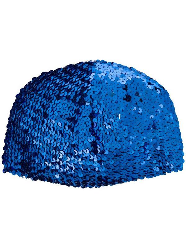 Gucci sequin-embellished hat in blue