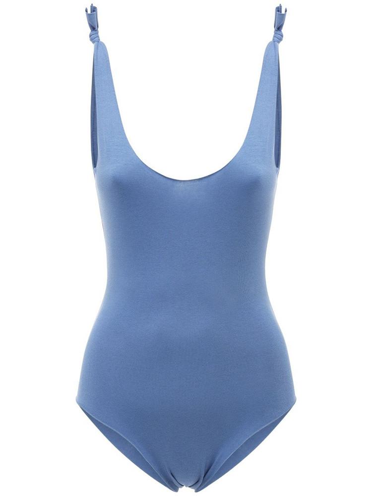 ISOLE & VULCANI Seamless Jersey One Piece Swimsuit in blue