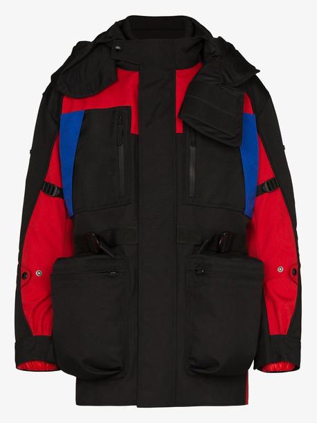 Burberry detachable puffer colour-block jacket