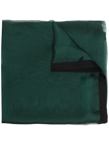 Hermès pre-owned silk scarf in green
