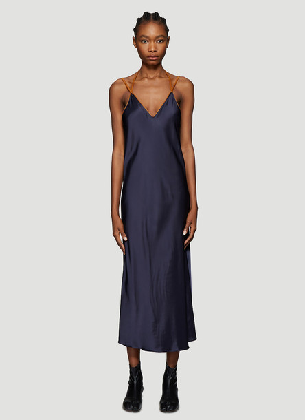 Helmut Lang Rubberband Slip Dress in Navy size M