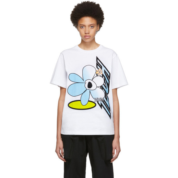 Perks and Mini White Tech Flower T-Shirt