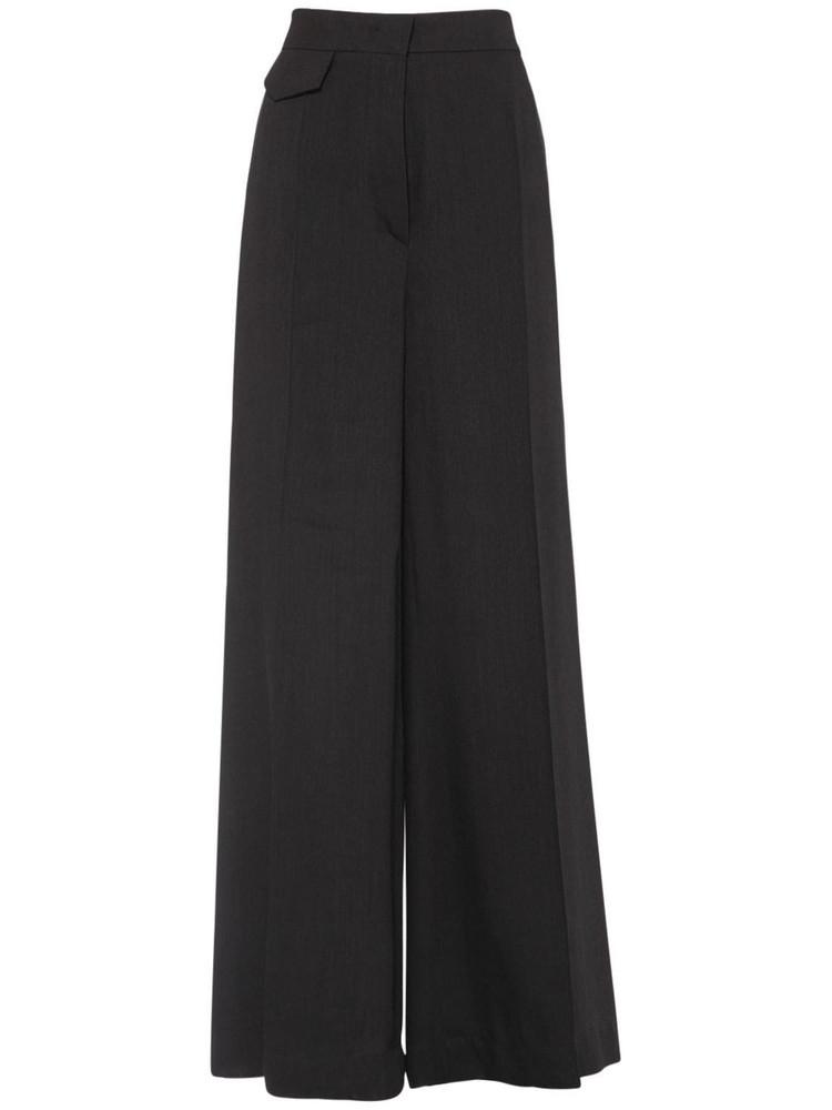 SPORTMAX Clarion Organza Wide Leg Pants in black