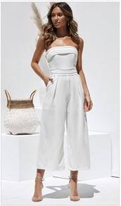jumpsuit,white
