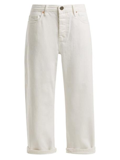 Raey - Dad Baggy Boyfriend Jeans - Womens - White