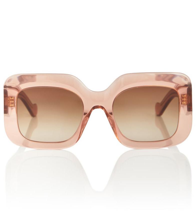 LOEWE Paula's Ibiza square acetate sunglasses in pink