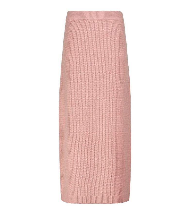 Altuzarra Wetherby merino wool-blend midi skirt in pink