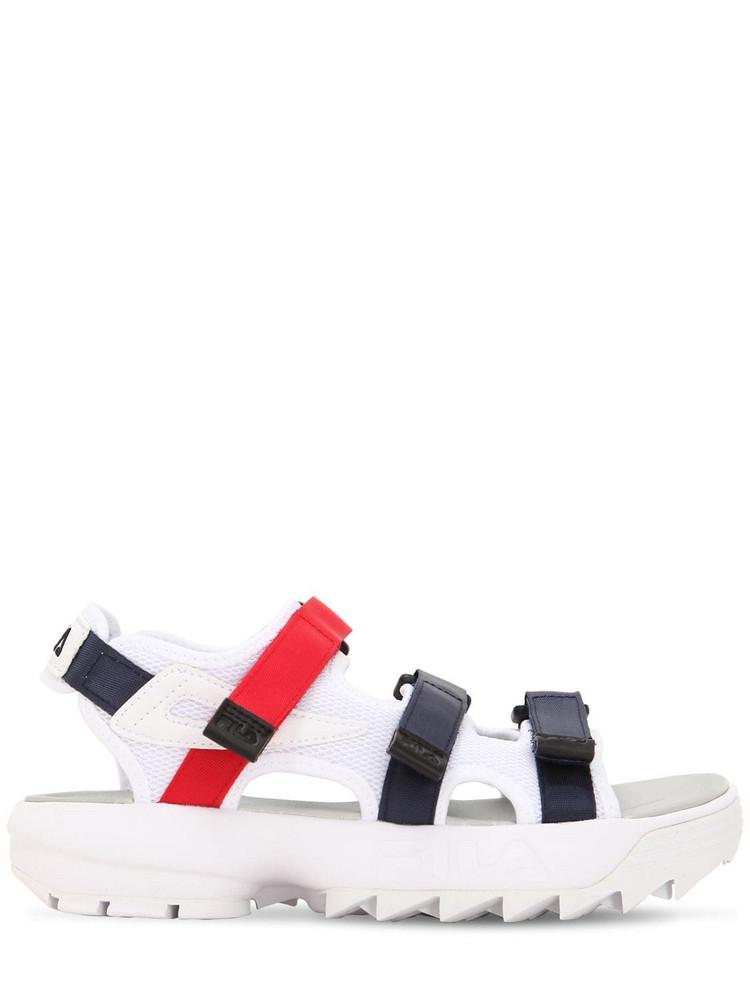FILA URBAN Disruptor Sandal Flats in navy / red / white