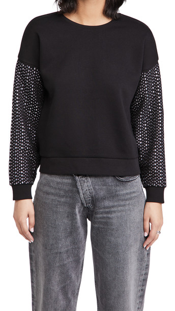 Generation Love Ariana Studded Sweatshirt in black / silver