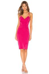 dress,midi dress,midi,pink