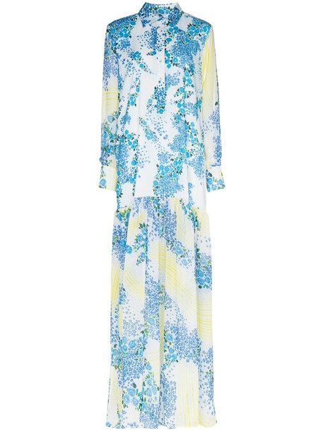 All Things Mochi Alona floral print maxi dress in blue