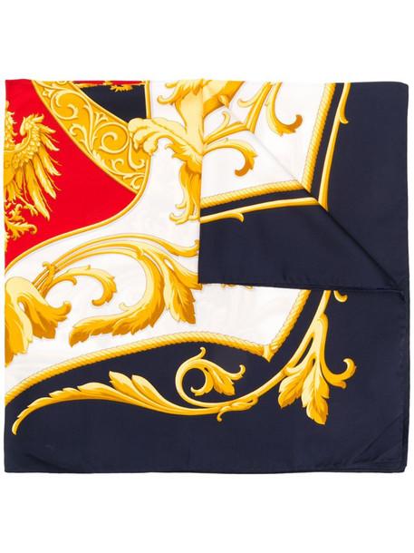 Dolce & Gabbana baroque print scarf in blue
