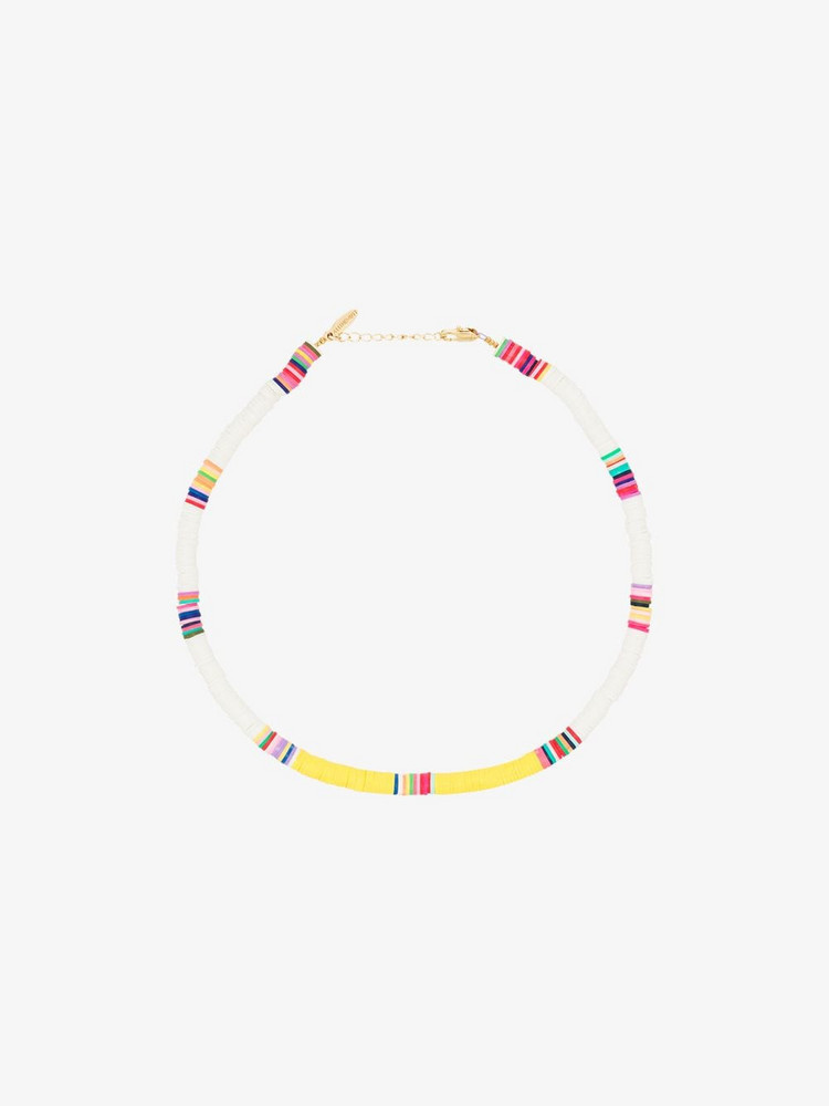 ALL THE MUST gold-plated beaded necklace in white
