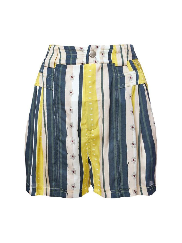 KOCHE' Printed Viscose Shorts in blue