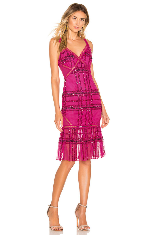 X by NBD Sadie Midi Dress in pink