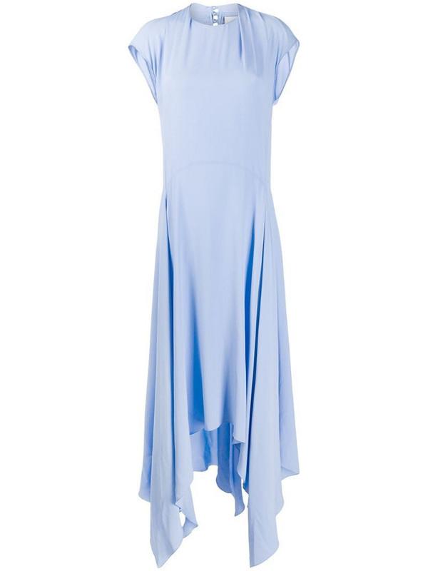 Erika Cavallini asymmetric flared dress in blue