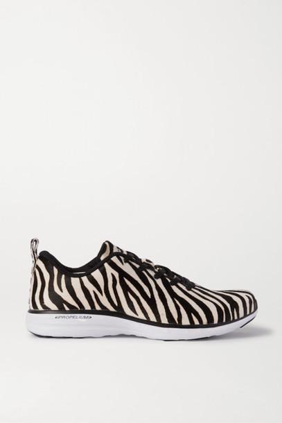 APL Athletic Propulsion Labs - Techloom Pro Zebra-print Calf Hair Sneakers - Zebra print