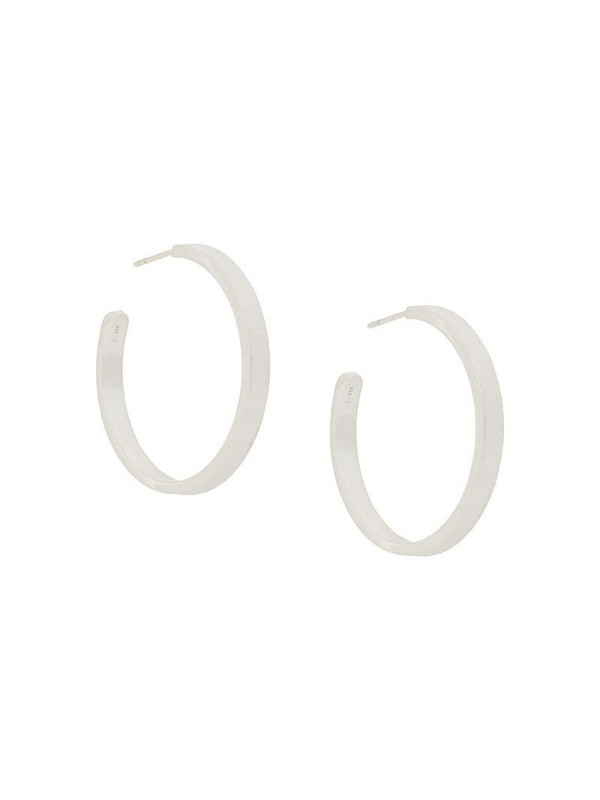 Isabel Lennse frosted hoop earrings in metallic