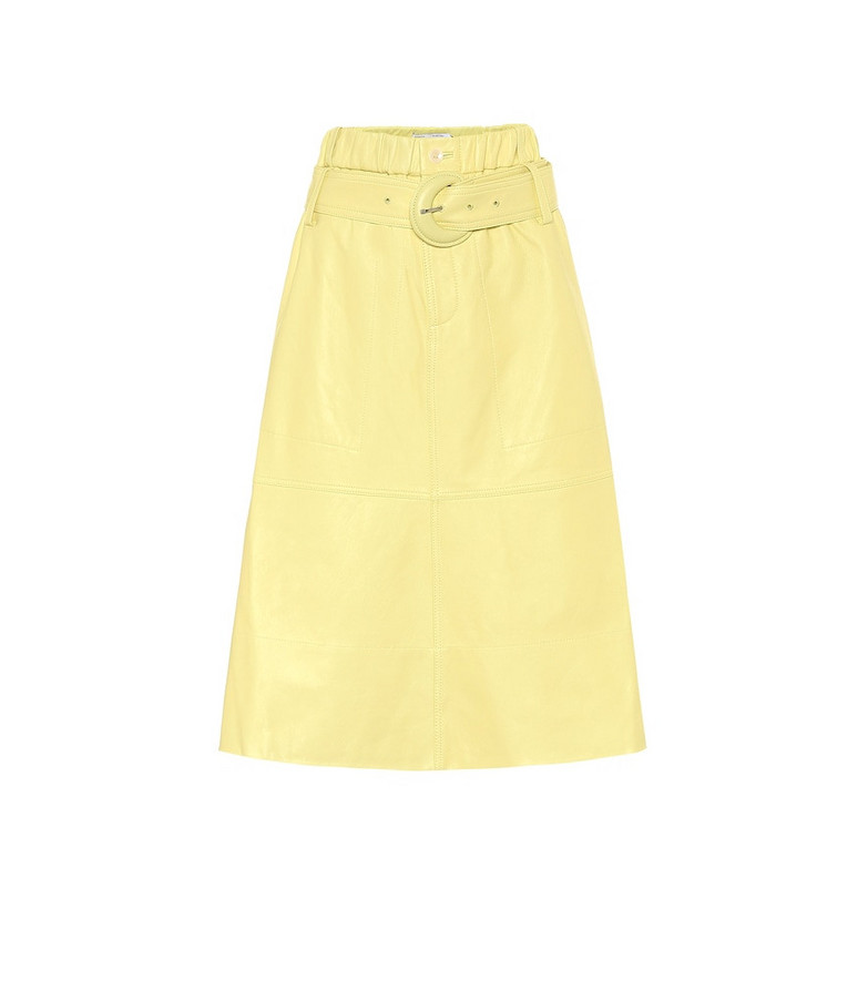 Proenza Schouler White Label Leather midi skirt in yellow