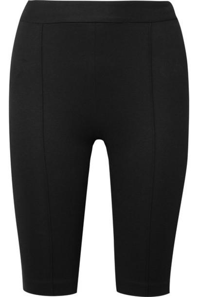 Rosetta Getty - Stretch-ponte Shorts - Black