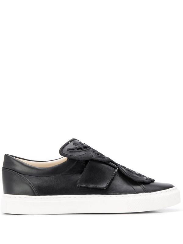 Sophia Webster slip-on butterfly pumps in black