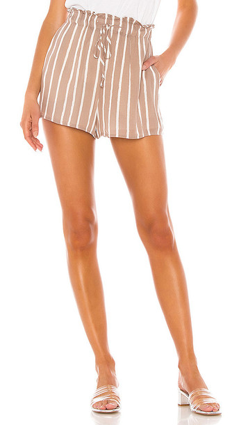 BCBGeneration Stripe Short in Taupe