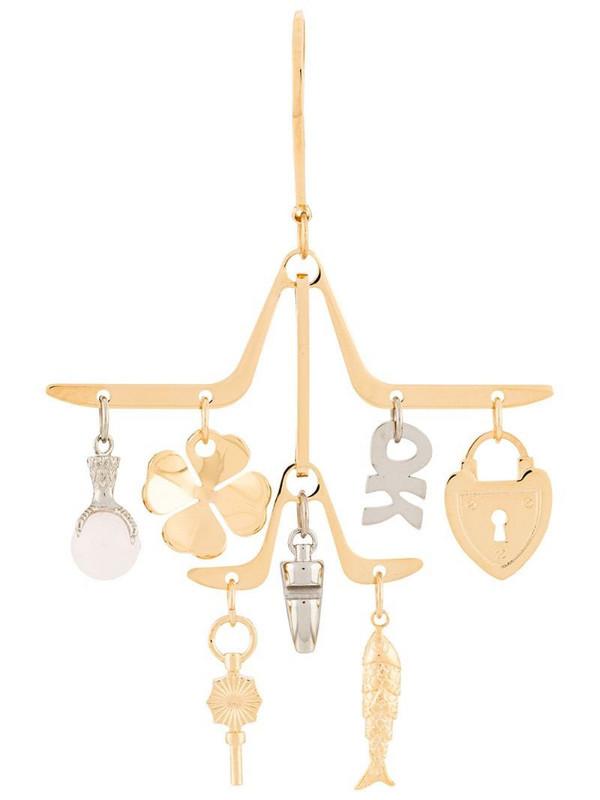 LANVIN charm chandelier earrings in gold