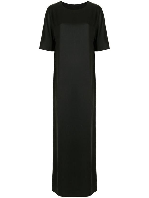 Haider Ackermann round-neck maxi dress in black
