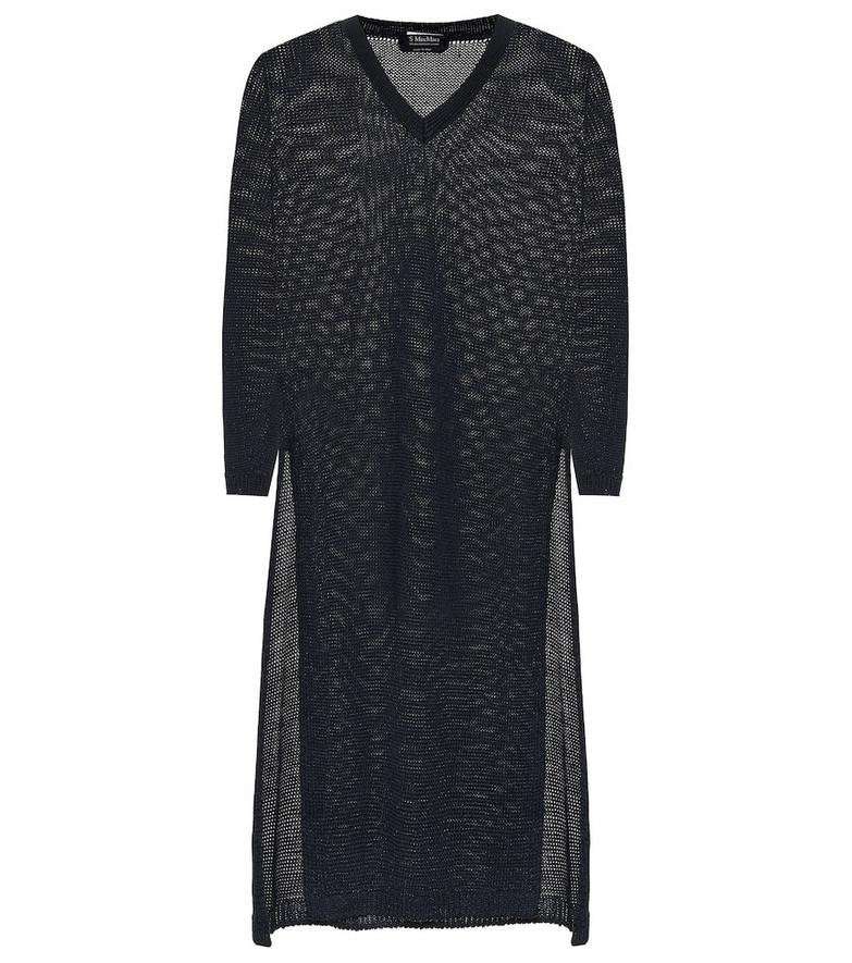 S Max Mara Corone linen sweater in blue