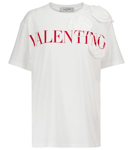 Valentino Logo cotton T-shirt in white