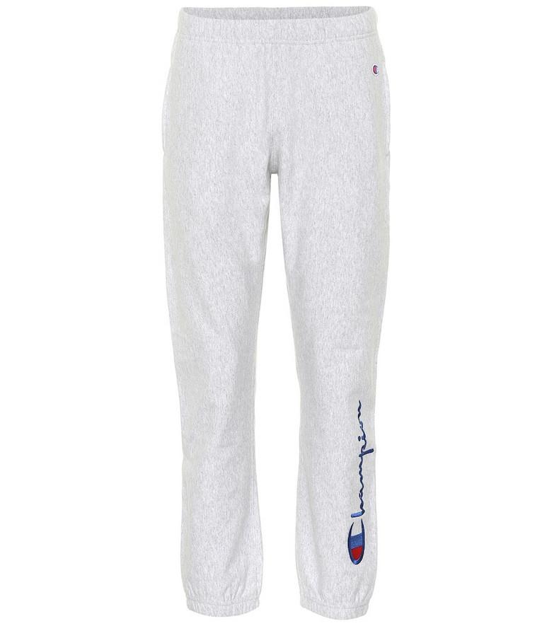Champion Cotton-blend sweatpants in grey
