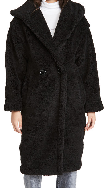 Apparis Mia Hooded Coat in noir