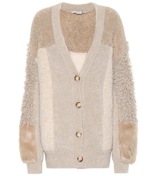 Stella McCartney Wool-blend cardigan in beige