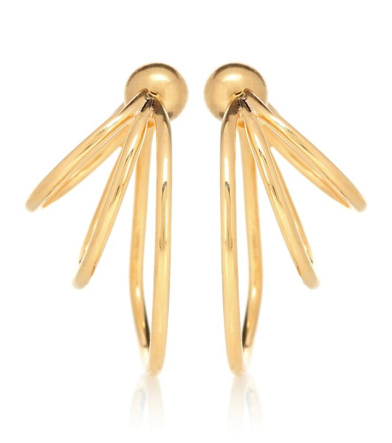 Sophie Buhai Triple Layered Hoop 18kt gold-plated earrings