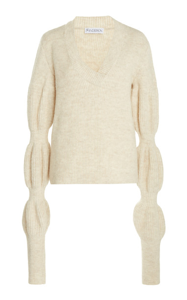 JW Anderson Bubble Sleeve Jumper in white