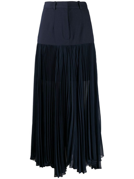 Rokh pleated contrast skirt in blue