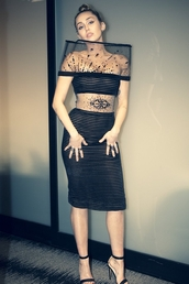 shoes,miley cyrus,celebrity,see through,see through dress,black dress,sandals,sandal heels,celebrity style,grammys