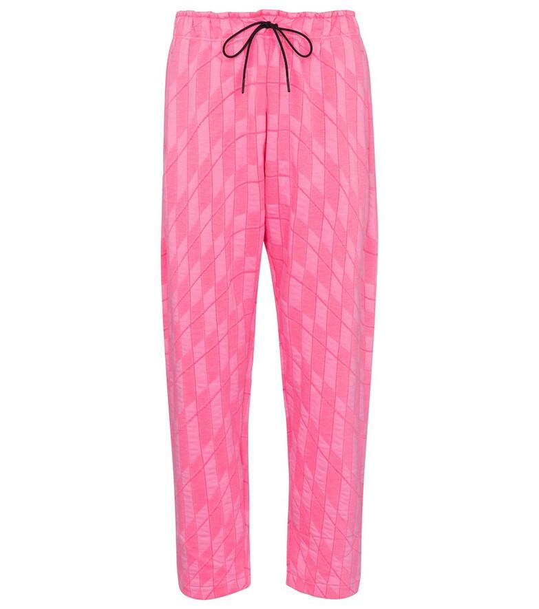 Nike Mid-rise straight fleece sweatpants in pink