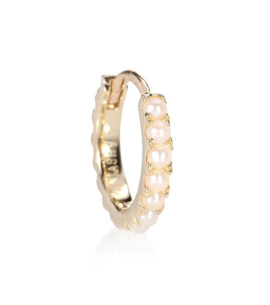 Maria Tash Akoya Pearl Cabochon Eternity 14kt yellow gold earring