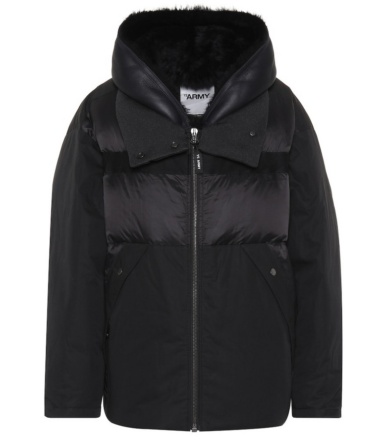 Yves Salomon - Army Cotton-blend jacket in black