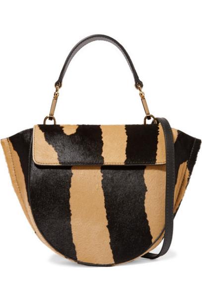 Wandler - Hortensia Mini Zebra-print Calf Hair Shoulder Bag - Beige