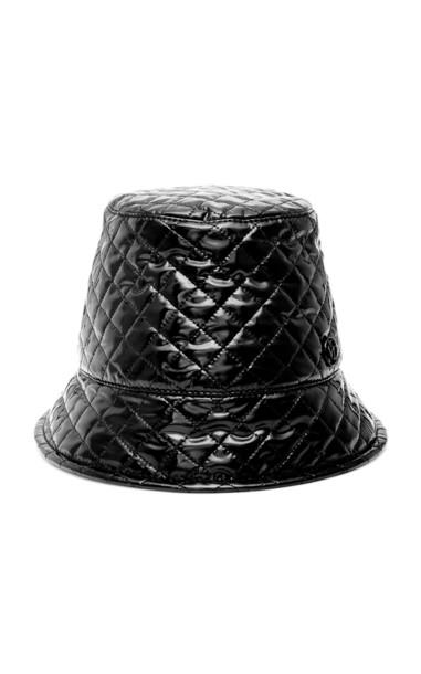 Maison Michel Souna Quilted Vinyl Bucket Hat Size: M