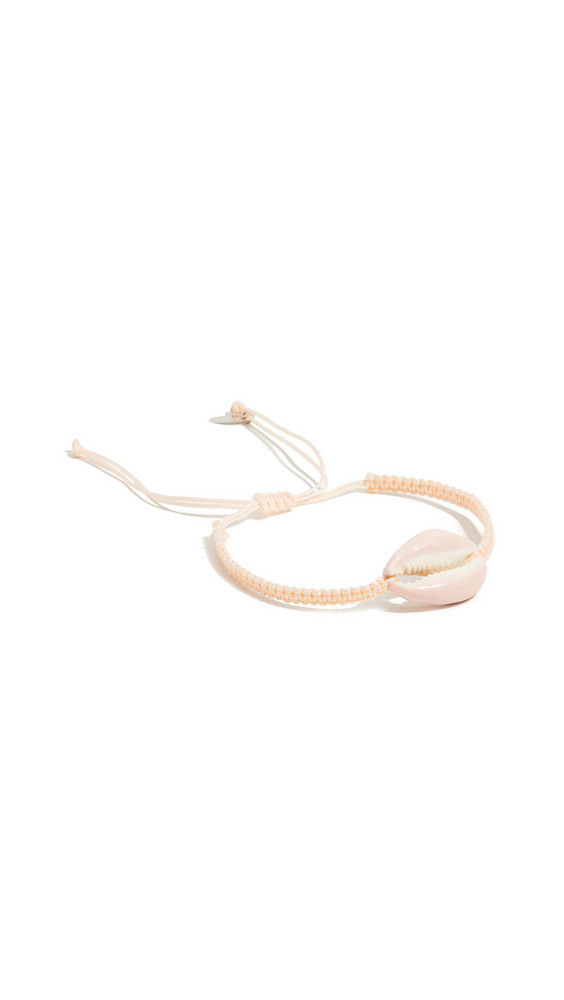 Maison Irem Pino Colored Shell Macrame Bracelet in pink