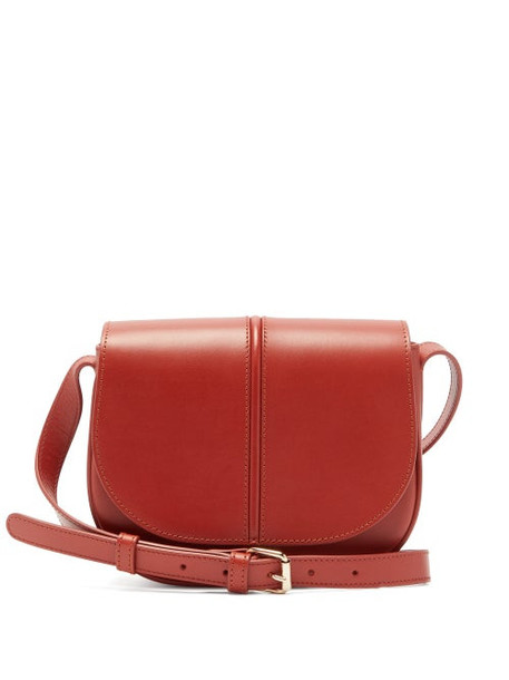 A.P.C. A.p.c. - Betty Leather Cross Body Bag - Womens - Orange