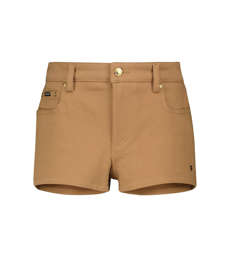 Tom Ford Low-rise denim shorts in brown