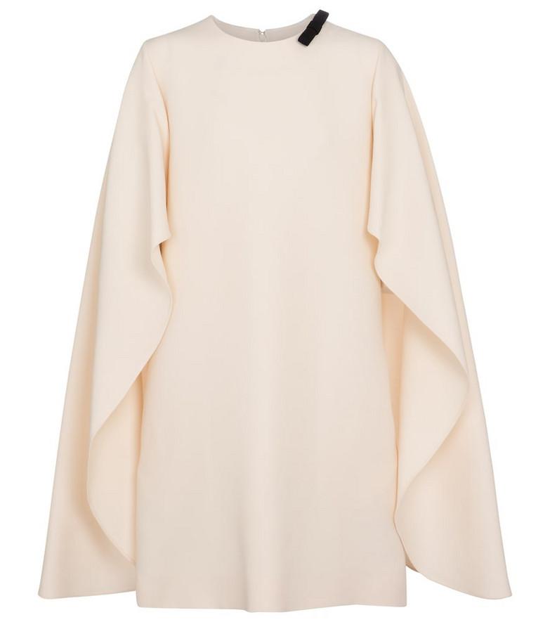 Valentino wool and silk crêpe minidress in white