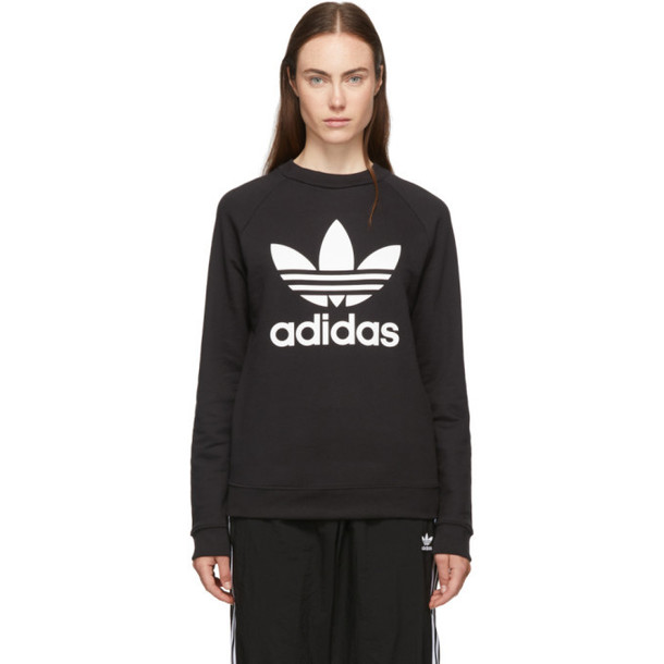 adidas Originals Black TRF Crew Sweatshirt